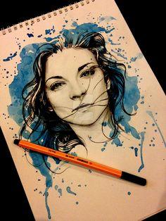 Abbastanza Badass Margaery Tyrell ritratto ad acquerello Illustrazione di AntoniettaArnoneArts