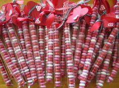 "Valentine's Day treat bags: where to buy it... 1""x8"" bags"