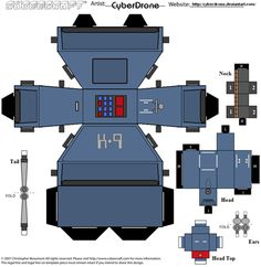 My Custom Cubeecraft / Papercraft Template of a Dalek From Doctor Who. For more of my Custom Fan Art Cubeecraft of Dr Who found here Doctor Who (c) BBC Doctor Who Party, Doctor Who Wedding, Martha Jones, Rose Tyler, Amy Pond, Deviantart, Science Fiction, Art Template, Templates
