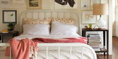 schoolhouse electric and supply co. Bed Factory, Beautiful Bedrooms, Light Bedroom, Serene Bedroom, Comfy Bedroom, Pretty Bedroom, Dream Bedroom, Bedroom Frames, Bedroom Decor