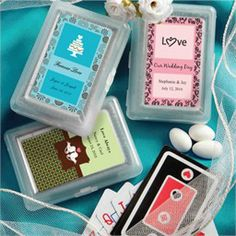 favors: playing cards