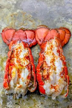 The Best Easy Broiled Lobster Tails Recipe - Oven Baked Lobster Tails lobster tail recipe, 10 minute broiled lobster tails recipe, baked lobster tail recipe, easy lobste Easy Lobster Tail Recipe, Baked Lobster Tails, Broiled Lobster Tails Recipe, Broil Lobster Tail, Grilled Lobster, Cooking Lobster Tails, Cooked Lobster, Lobster Meat, Lobster Recipes