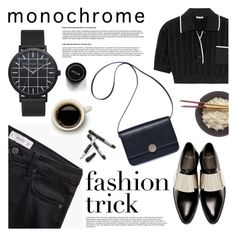 """Make It Monochrome"" by christianpaul ❤ liked on Polyvore featuring MANGO, Miu Miu, Givenchy, Crate and Barrel, monochrome, contestentry and christianpaul"