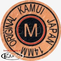 1 Kamui Brown Medium Pool Cue Tip-New Red Ring (Medium =M) Free Shipping! #Kamui