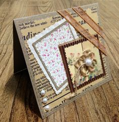 Very nice card, given me some ideas Diy Projects Handmade, Scrapbook Cards, Scrapbooking, Mothers Day Cards, Card Maker, Card Tags, Creative Cards, Greeting Cards Handmade, Diy Cards