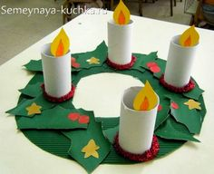 Preschool Christmas Crafts, Christmas Activities For Kids, Xmas Crafts, Christmas Projects, Christmas Themes, Diy Crafts For Kids, Kids Christmas, Art For Kids, Thanksgiving Wreaths