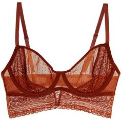 Intimately Free People Intimately Free People Women's Get Off My Cloud... ($29) ❤ liked on Polyvore featuring intimates, bras, lingerie, underwear, tops, orange, intimately free people, orange bra, underwire bra and orange lingerie