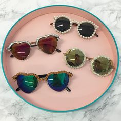 I hope you own a glue gun... Embellished sunnies are about to change your life.  #psimadethis