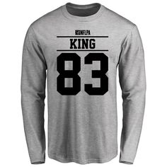 Tavarres King Player Issued Long Sleeve T-Shirt - Ash