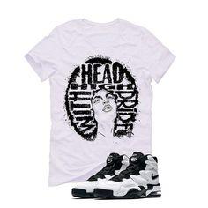 Nike Air Max 2 Uptempo 94 'White & Black' White T (HEAD HIGH) Nike Air Max 2, White T, Matching Shirts, Air Jordans, Street Wear, Mens Tops, T Shirt, Clothes, Fashion