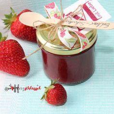 Herzschlüssel: Erdbeer-Schokolade-Marmelade, Alexandra Renke, Erlebniswelt, Thermomix, Rezept, #DIY, selbstgemacht