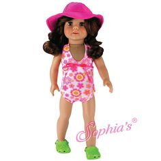 """DOLL CLOTHES - SWIMWEAR FOR AMERICAN GIRL DOLLS AND 18"""" DOLLS"""