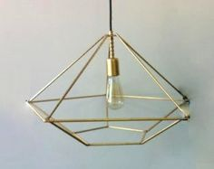 Adapt to make into a star shaped  geometric chandelier