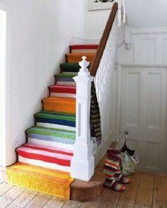 coole Treppen-Vorleger bunten farbe Flur