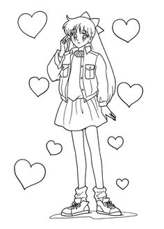 Sailor Moon Series Coloring Pages: Minako