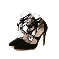 Fashion High heeled Point Toe Lace up Ankle-Strap Heels For Women