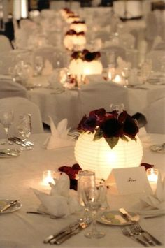 4 Ways to Make Your Centerpieces Unique - Paper Lantern Flower Centerpieces (Wedding, Bar & Bat Mitzvah) - mazelmoments.com