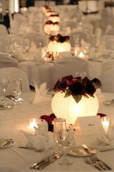 4 Ways to Make Your Centerpieces Unique - Paper Lantern Flower Centerpieces (Wedding, Bar & Bat Mitzvah) - mazelmoments.com