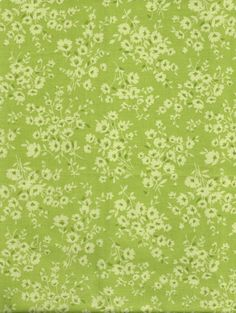 Half Yard Floral Green on Green Calico Print from Heritage Studio Collection by Fabric Traditons, Fabric, Calico, Quilting Supplies, Fabric