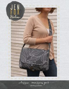 This listing is for a PDF pattern of classic messenger!    The classic messenger is great for a smaller school bag, for toting sketchbooks to the