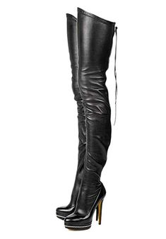 29a25e060e52 Buy termarnoov termarnoov 2018 Women Thin High Heel Thigh High Boots PU  Leather Platform Booties Winter Zipper Over The Knee Boots online -  Topoffergoods