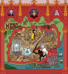 J.E. Fullerton map of King's Landing from George R.R. Martin's A Song of Ice and Fire.