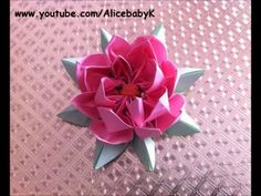 折り紙 蓮の花 How To Make an Origami Lotus Flower Tutorial
