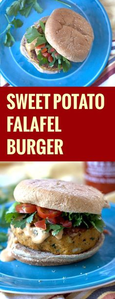 Tender roasted sweet potatoes, savory chickpeas, and plenty of flavorful Middle Eastern spices go into these hearty sweet potato falafel burgers.