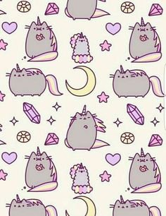 Cute Wallpapers Phone Backgrounds Kawaii Wallpaper Cat Lady Pusheen Posts Wall Papers Connect