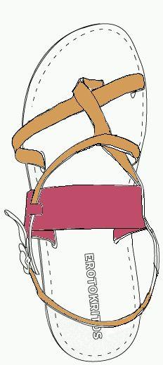 Erotokritos Erosand Custom sandals.