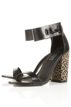 Topshop Reflect Leopard Heel Sandals  http://shoesofthesole.blogspot.com/
