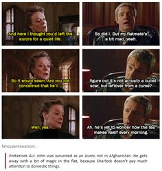 This would be so awesome. Can I please have this??<< and and and mcgonnagall as mrs hudson's sister,!!