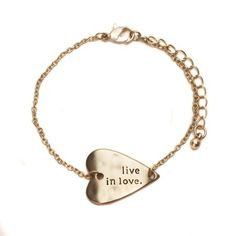Live In Love Gold Bracelet