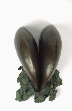 Bronze Abstract Plants Fruits Trees Leaves Flowers statue by artist Dilys Jackson titled: 'Dark Spring (Small bronze abstract Modern statuette)'