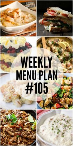 Get ready for a flavor explosion at your dinner table! This week's menu plan recipes are sure to please your taste buds and fill your tummy!