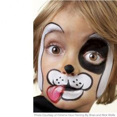 Your new little #puppy will be wagging their tail with #happiness all night with this #easy and amazing face paint.