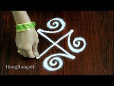 Design Discover Easy Kolams for Beginners Easy Rangoli Designs Videos, Rangoli Designs Latest, Rangoli Designs Flower, Rangoli Border Designs, Rangoli Ideas, Rangoli Designs Images, Rangoli Designs With Dots, Beautiful Rangoli Designs, Simple Rangoli With Dots
