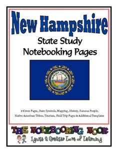 State Study - New Hampshire State Study Notebooking Pages