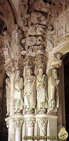 Catedral de Santiago de Compostela. Pilar de los Profetas - Obra - ARTEHISTORIA V2