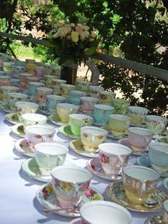 Mis-matched vintage cups :-)