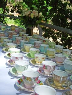 Mis-matched vintage cups :-)
