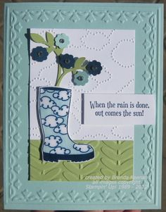 Stamps: Bootiful Occasions  Ink: Midnight Muse, Pool Party  Paper: Pool Party, Certainly Celery, Midnight Muse, Whisper White  Accessories: Embossing folders (Vine Street, Framed Tulips, Cloudy Day), Rhinestones, Dimensionals, Crystal Effects, Bird Punch, Itty Bitty Punch Pack