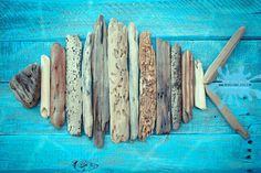 Print or Canvas: Driftwood Fish Pallet Art Reproduction Wall Decor Choose Lustre Fine Art Print or Gallery Wrapped Canvas