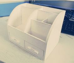 DIY-Cardboard-Desktop-Organizer-with-Drawers-2