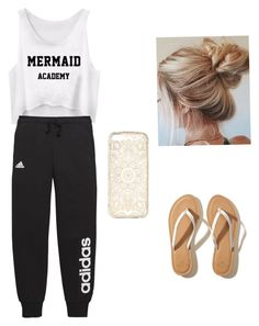 """""""A """"I don't care"""" look that is way more than comfy."""" by sloanesmile on Polyvore featuring adidas and Hollister Co."""