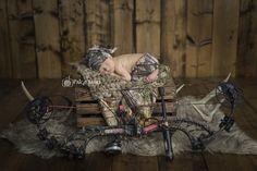 Newborn Photos | Newborn Photography | © Paige Laro Photography | Studio Photography | Hunting Theme | Hunter | Deer | http://www.PaigeLaroPhotography.com                                                                                                                                                                                 More