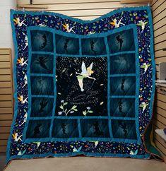 Tinker Bell Premium Quilt Blanket Q006 Tinkerbell Wallpaper, Quilt Patterns, Stitch Patterns, Decorative Throws, Disneyland, First Love, Cozy, Tinker Bell, Quilts
