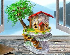 Hey, I found this really awesome Etsy listing at https://www.etsy.com/listing/209248692/fairy-house-night-lamp-unique-gifts
