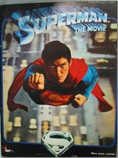 1978 Superman The Movie Album Made in Venezuela Super Man Vintage Very Rare DC Superman Movie 1978, Superman 1, Superman Man Of Steel, Christopher Reeve Superman, Artwork Superman, Superman Wallpaper, Comic Book Superheroes, Comic Book Heroes, Comic Movies
