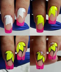 Gel Nail Designs You Should Try Out – Your Beautiful Nails Pedicure Nail Art, Nail Art Diy, Diy Nails, Cute Nails, Colorful Nail Designs, Beautiful Nail Designs, Cool Nail Designs, Jolie Nail Art, Gel Nagel Design